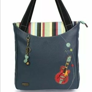 CHALA GUITAR TOTE BAG HANDBAG WITH KEY RING NEW